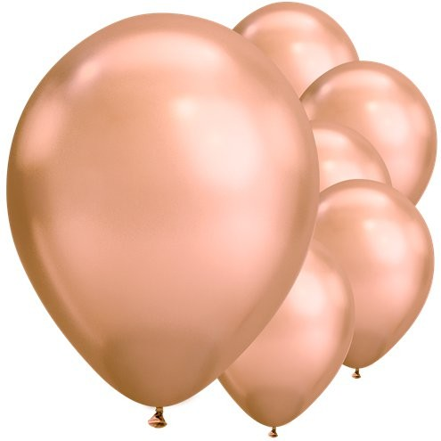 5 Ballons metallic blush