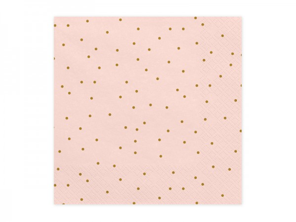 Servietten rosa/gold Dots