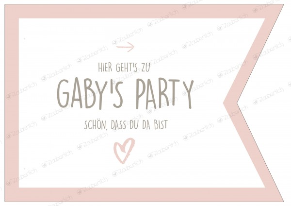 "Wegweiser • personalisierbar • blush ""Happy Birthday"""