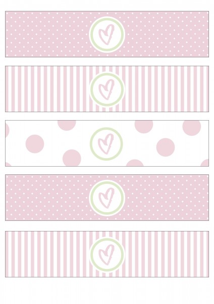 "Flaschenetiketten • Baby Party • ""LittleWonder"" rosa"