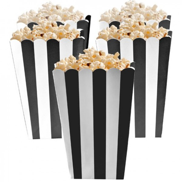 5 Popcornboxen black/white