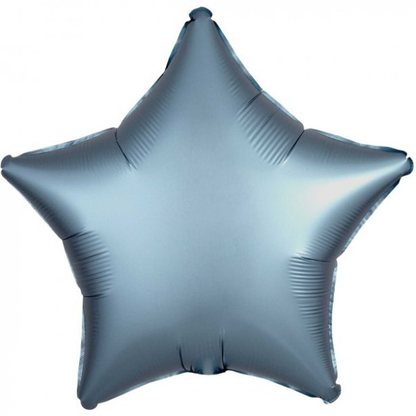 Folienballon Stern steelblue matt