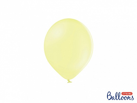 5 Ballons pastell gelb