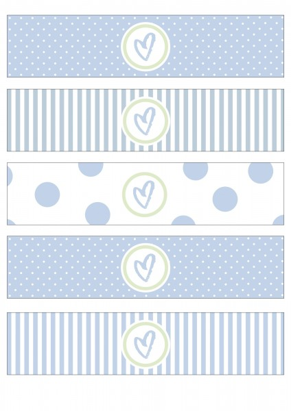 "Flaschenetiketten • Baby Party • ""LittleWonder"" blau"