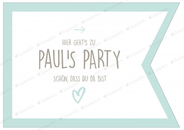 "Wegweiser • personalisierbar • mint ""Happy Birthday"""